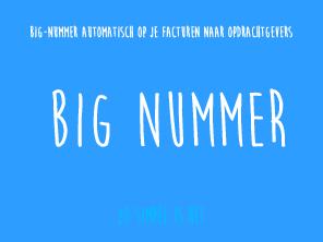 BIG-nummer automatisch op je facturen naar opdrachtgevers